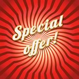 Special offer on a dynamic background Stock Images