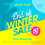 Special Offer End of Winter Sale banner. Design template Stock Image