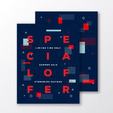 Special Offer Fashion Sale Poster, Card or Flyer Template. Modern Abstract Flat Swiss Style Background and Minimal Royalty Free Stock Photography