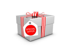 Special offer and gift box Royalty Free Stock Photo