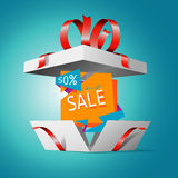 Special offer in a gift box Royalty Free Stock Photography