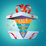 Special offer in a gift box Royalty Free Stock Images