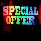 Special offer grunge background Royalty Free Stock Photography