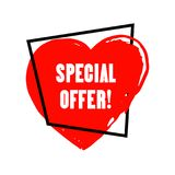 Special Offer grunge style Stock Image