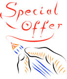 Special offer. Hand drawing background Royalty Free Stock Images
