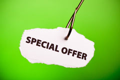 Special OFfer on hook Royalty Free Stock Images