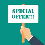 Special offer icon. Vector illustration in flat style Stock Photography