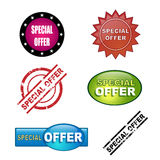 Special offer icons stock illustration