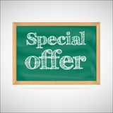 Special offer - the inscription chalk Royalty Free Stock Photo