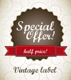 Special offer label Royalty Free Stock Image