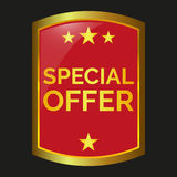 Special offer label. On black background, vector illustration Royalty Free Stock Images