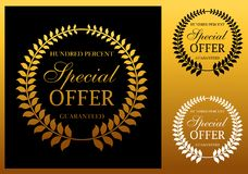 Special offer label or emblem. In retro style, for commerce and market logo design Royalty Free Stock Image
