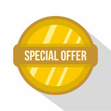 Special offer label icon, flat style Royalty Free Stock Photo