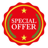 Special offer label. On white background, vector illustration Stock Photography