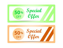 Special offer labels Royalty Free Stock Photos