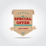 Special offer lable Stock Image