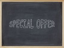 Special Offer meat written on a blackboard. To mean a business concept Royalty Free Stock Photography