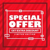 Abstract special offer modern red background. Special offer modern red background royalty free illustration