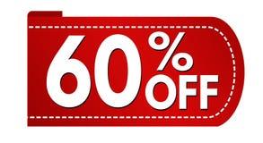 Special offer 60 % off banner design. On white background, vector illustration vector illustration