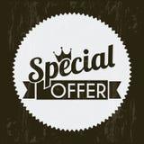 Special offer. Over black background. vector illustration royalty free illustration