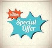 Special Offer. Over vintage background vector illustration Royalty Free Stock Image