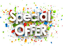 Special offer paper background. Stock Image
