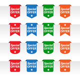 Special offer paper tag labels Royalty Free Stock Photos