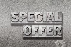 Special offer on metallic Royalty Free Stock Image