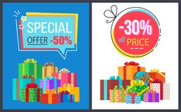 Special Offer 50 Price Off 30 Gemetric Label Boxes Stock Images