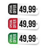 Special offer price tag label Stock Images