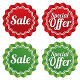 Special offer price tags templates set. Royalty Free Stock Images