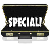 Special Offer Proposal Business Presentation Briefcase Stock Photos
