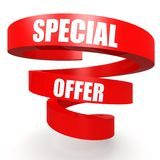 Special offer red helix banner Royalty Free Stock Image