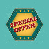 Special offer - retro label Royalty Free Stock Photography