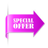 Special offer ribbon icon Stock Image