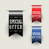 Special Offer Ribbons. Vector illustration. eps 10 Stock Photo