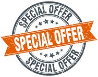 Special offer stamp. Special offer round grunge vintage ribbon stamp. special offer vector illustration