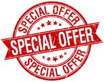 Special offer stamp. Special offer round grunge vintage ribbon stamp. special offer royalty free illustration