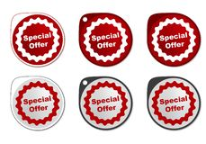 Special Offer round sticker Stock Photography