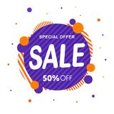 Special Offer, sale banner design template, discount app icon vector illustration