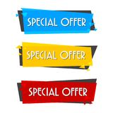 Special offer sale banner for your design ,discount clearance event festival Stock Image