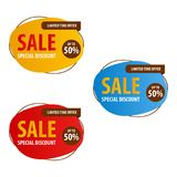 Special offer sale banner for your design ,discount clearance event festival Stock Images