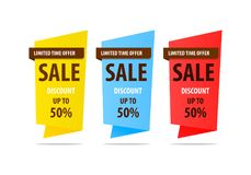 Special offer sale banner for your design ,discount clearance event festival Royalty Free Stock Image