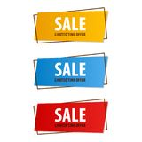 Special offer sale banner for your design ,discount clearance event festival , illustration Stock Image