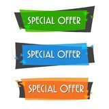 Special offer sale banner for your design ,discount clearance event festival , illustration Royalty Free Stock Photography