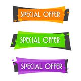 Special offer sale banner for your design ,discount clearance event festival Stock Photography
