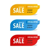 Special offer sale banner for your design ,discount clearance event festival Royalty Free Stock Photography