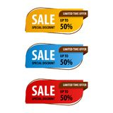 Special offer sale banner for your design ,discount clearance event festival Royalty Free Stock Photos