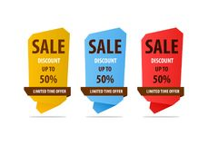 Special offer sale banner for your design ,discount clearance event festival Stock Photos