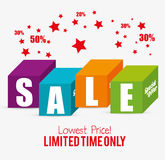 Special offer sale lowest price color blocks star Royalty Free Stock Photography